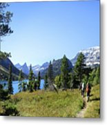 Stoney Indian Pass Trail Around Cosley Lake - Glacier National Park Metal Print