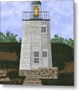 Stony Point On The Hudson River New York Metal Print