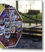 Stop Sign Ala New Orleans, Louisiana Metal Print