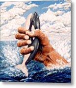 Stop Whaling Metal Print
