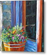 Stopping At An Entryway Metal Print