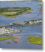 Stopping Traffic Topsail Island Metal Print