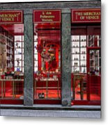 Store Front In Red Metal Print
