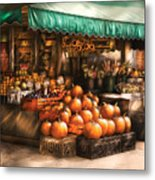 Store - Hoboken Nj - The Fruit Market Metal Print