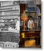 Store - In A General Store 1917 Side By Side Metal Print