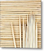 Stored Wooden Toothpicks Metal Print