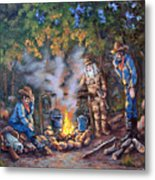 Stories Around The Fire Metal Print