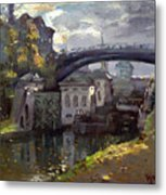 Storm Aproach At Lockport Locks Metal Print