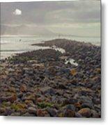 Storm At Morro Rock Breakwater Morro Bay California Metal Print
