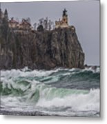 Storm At Split Rock Lighthouse Metal Print