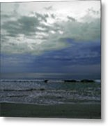 Storm At The Beach Metal Print