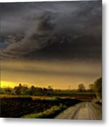 Storm Before Sunset Metal Print