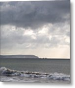 Storm Brewing Over The I O W Metal Print