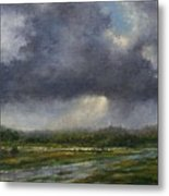 Storm Brewing Over The Refuge Metal Print