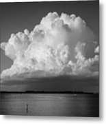 Storm Cloud On The Horizon Metal Print