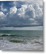 Storm Clouds Above The Atlantic Ocean Metal Print