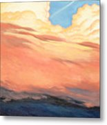 Storm Clouds And Sunsets Metal Print