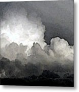 Storm Clouds Are Brewin' Metal Print