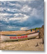 Storm Clouds In Stone Harbor Metal Print