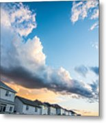 Storm Clouds In The Sunset Metal Print by Adnan Bhatti