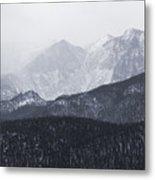 Storm Clouds On Pikes Peak Metal Print