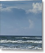 Storm Clouds On The Horizon Ocean Isle North Carolina Metal Print
