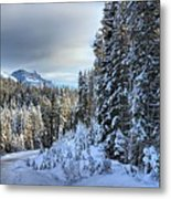 Storm Clouds Over Bow Valley Parkway Metal Print
