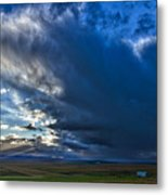 Storm Clouds Over Farmland #2 - Iceland Metal Print