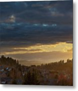 Storm Clouds Over Happy Valley During Sunset Metal Print