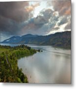 Storm Clouds Over Hood River Metal Print