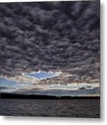 Storm Clouds Over Long Lake Metal Print