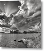 Storm Clouds Over Oriental Metal Print