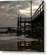 Storm Clouds Over Pine Point Metal Print