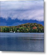 Storm Clouds Over The Lake Of Bays Metal Print