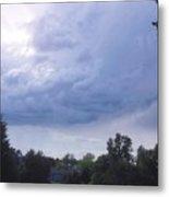 Storm Clouds Passing Through Metal Print