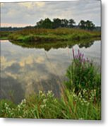 Storm Clouds Reflect In The Nippersink Metal Print