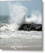 The Ocean's Strength Metal Print