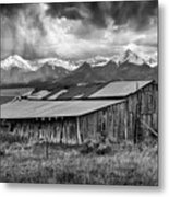 Storm In B And W Metal Print