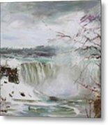 Storm In Niagara Falls  Metal Print