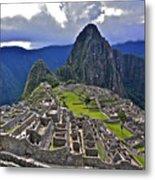 Storm Inbound To Machu Picchu Metal Print
