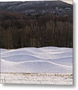 Storm King Wavefield In Snowy Dress Metal Print