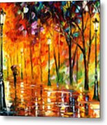 Storm Of Emotions - Palette Knife Oil Painting On Canvas By Leonid Afremov Metal Print