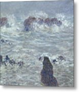 Storm Off The Coast Of Belle Ile Metal Print
