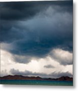 Storm On Karakul Lake Metal Print by Konstantin Dikovsky