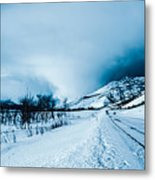 Storm On The Mountain Metal Print