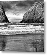 Storm On The Rocks Metal Print