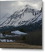 Storm On The Rocky Mountain Front Metal Print