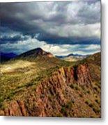 Storm Over Cliffs Metal Print