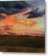 Storm Over Davis Mountains Metal Print