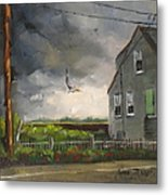 Storm Over Hull Jr Metal Print